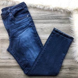 AG denim The Isabelle high rise straight crop